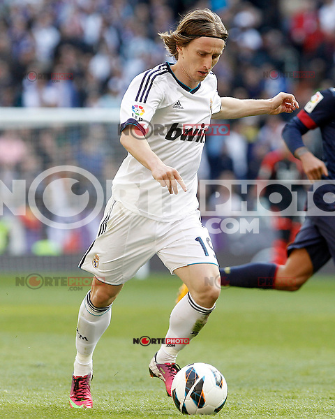 Real Madrid's Luca Modric during La Liga match.March 02,2013. (ALTERPHOTOS/Acero) /NortePhoto