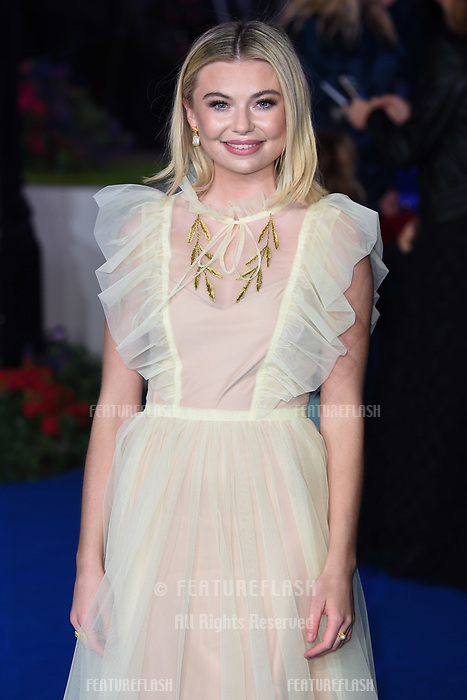 """LONDON, UK. December 12, 2018: Georgia Tofolo at the UK premiere of """"Mary Poppins Returns"""" at the Royal Albert Hall, London.<br /> Picture: Steve Vas/Featureflash"""