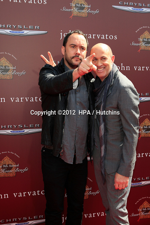 LOS ANGELES - MAR 11:  Dave Matthews; John Varvatos arrives at the 9th Annual John Varvatos Stuart House Benefit at the John Varvatos Store on March 11, 2012 in West Hollywood, CA