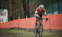 Thalita Dejong (NLD/Rabo-Liv) leading the race<br /> <br /> Elite Women's race<br /> UCI 2016 cyclocross World Championships