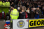 Home team supporters applauding the teams at the Paisley2021 Stadium before Scottish Championship side St Mirren played Welsh champions The New Saints in the semi-final of the Scottish Challenge Cup for the right to meet Dundee United in the final. The competition was expanded for the 2016-17 season to include four clubs from Wales and Northern Ireland as well as Scottish Premier under-20 teams. Despite trailing at half-time, St Mirren won the match 4-1 watched by a crowd of 2044, including 75 away fans.