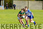 Emma Dineen in possession against Katie Murray of   Waterford in the LGFA National football league in Strand Road on Saturday.