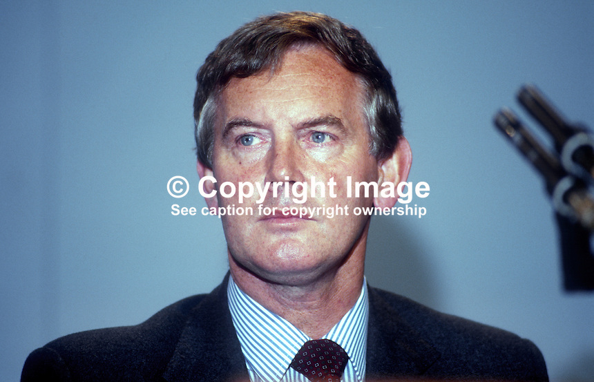John Moore, MP, Secretary of State for Transport, Conservative Party, UK, platform, annual conference, September, 1986. 19861011JM2<br /> <br /> Copyright Image from Victor Patterson, 54 Dorchester Park, Belfast, UK, BT9 6RJ<br /> <br /> t1: +44 28 9066 1296 (from Rep of Ireland 048 9066 1296)<br /> t2: +44 28 9002 2446 (from Rep of Ireland 048 9002 2446)<br /> m: +44 7802 353836<br /> <br /> e1: victorpatterson@me.com<br /> e2: victorpatterson@gmail.com<br /> <br /> The use of my copyright images is subject to my Terms &amp; Conditions.<br /> <br /> It is IMPORTANT that you familiarise yourself with them. They are available on my website at www.victorpatterson.com.<br /> <br /> None of my copyright images may be used on a website unless they are visibly watermarked, i.e. &copy; Victor Patterson within the body of the visible image. Metadata denoting my copyright must NOT be deleted. <br /> <br /> Web use is extra at currently recommended NUJ rates.