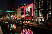 Nederland Amsterdam 2018. Red Light District. Oudezijds Achterburgwal. De Wallen. Sex Theatre Casa Rosso. Foto Berlinda van Dam / Hollandse Hoogte