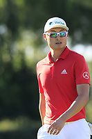 Haotong Li (CHN) on the 17th hole during Thursday's Round 1 of the 2018 Turkish Airlines Open hosted by Regnum Carya Golf &amp; Spa Resort, Antalya, Turkey. 1st November 2018.<br /> Picture: Eoin Clarke | Golffile<br /> <br /> <br /> All photos usage must carry mandatory copyright credit (&copy; Golffile | Eoin Clarke)