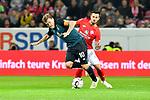 04.11.2018, Opel-Arena, Mainz, GER, 1 FBL, 1. FSV Mainz 05 vs SV Werder Bremen, <br /> <br /> DFL REGULATIONS PROHIBIT ANY USE OF PHOTOGRAPHS AS IMAGE SEQUENCES AND/OR QUASI-VIDEO.<br /> <br /> im Bild: Max Kruse (SV Werder Bremen #10), Danny Latza (#6, FSV Mainz)<br /> <br /> Foto © nordphoto / Fabisch