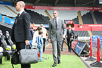 Swansea City manager Paul Clement arrives at Liberty Stadium prior to kick off of the Premier League match between Swansea City and Huddersfield Town at The Liberty Stadium, Swansea, Wales, UK. Saturday 14 October 2017