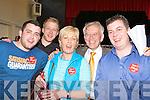 Sean O'Grady Labour celebrates with his family at the Killarney UDC election count in the Aras Padraig Killarney on Saturday l-r: Cieran, Rory, Kitty, Sean and Sean Jnr.