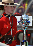22 July 2007: The FIFA U-20 World Cup Trophy is flanked by Canadian Mounties between the team benches during the game. At the National Soccer Stadium, also known as BMO Field, in Toronto, Ontario, Canada. Argentina's Under-20 Men's National Team defeated the Czech Republic's Under-20 Men's National Team 2-1 in the championship match of the FIFA U-20 World Cup Canada 2007 tournament.