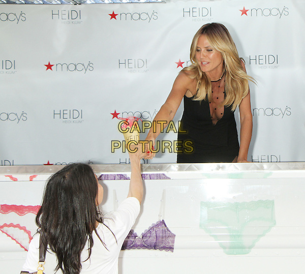 NEW YORK, NY-June 23: Heidi Klum host of HEIDI by HEIDI KLUM Lingerie Ice Cream Truck &amp; Shopping Party  at Macy's Herald Square   in New York. NY June 23, 2016.  <br /> CAP/MPI/RW<br /> &copy;RW/MPI/Capital Pictures