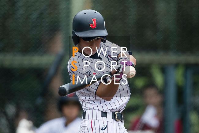 #27 Mitsuura Sakura of Japan bats during the BFA Women's Baseball Asian Cup match between Japan and Hong Kong at Sai Tso Wan Recreation Ground on September 5, 2017 in Hong Kong. Photo by Marcio Rodrigo Machado / Power Sport Images