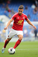George Baldock of Sheffield United warms up ahead of kick-off during Chelsea vs Sheffield United, Premier League Football at Stamford Bridge on 31st August 2019