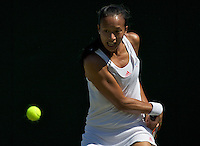 Anne Keothavong (GBR) against  Patricia Mayr (AUT) in the first round of the ladies singles, Mayer beat Keothavong 7-5 6-2..Tennis - Wimbledon - Day 2 - Tues 23rd June 2009 - All England Lawn Tennis Club  - Wimbledon - London - United Kingdom..Frey Images, Barry House, 20-22 Worple Road, London, SW19 4DH.Tel - +44 20 8947 0100.Cell - +44 7843 383 012