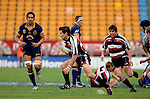 Ben Meyer makes a break with Grant Henson in support.  Air NZ Cup game between Counties Manukau & Otago played at Mt Smart Stadium,Auckland on the 29th of July 2006. Otago won 23 - 19.
