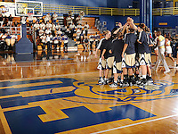 14 November 2008:  FIU's team gathers at mid-court prior to the start of the Wisconsin-Green Bay 68-45 victory over FIU at FIU Arena in Miami, Florida.