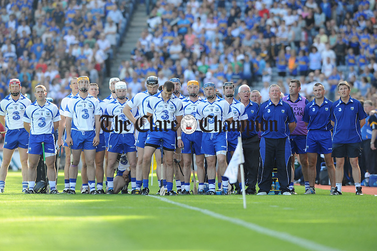 The Waterford Team before their senior All-Ireland semi final at Croke Park. Photograph by John Kelly..