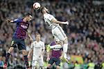 Real Madrid CF's Karim Benzema and FC Barcelona's Sergio Busquets during La Liga match. March 02,2019. (ALTERPHOTOS/Alconada)