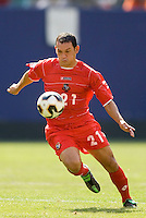 Panama's Angel Luis Rodriguez. The United States defeated Panama 3-1 in a shoot out after a scoreless game to win the CONCACAF Gold Cup at Giant's Stadium, East Rutherford, NJ, on July 24, 2005.