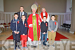 Smiles all around on Monday by the pupils of Killury N.S Causeway as they were confirmed in St Johns Causeway by the Bishop of Kerry Ray Brown and Fr. Brendan Walsh, PP Causeway and Ballyduff on Monday Sean Sheehan, Cory Griffin O'Mahony, Dillan Murphy, Dean Fitzpatrick and  Teacher Padraig Regan