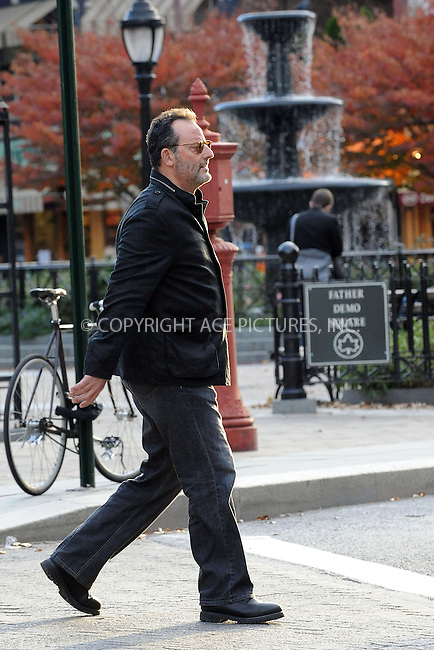 WWW.ACEPIXS.COM . . . . . ....October 26 2009, New York City....Actor Jean Reno was seen walking around Soho with his children on October 26 2009 in New York City....Please byline: KRISTIN CALLAHAN - ACEPIXS.COM.. . . . . . ..Ace Pictures, Inc:  ..tel: (212) 243 8787 or (646) 769 0430..e-mail: info@acepixs.com..web: http://www.acepixs.com
