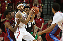 November 17, 2013: Terran Petteway (5) of the Nebraska Cornhuskers guarded by Jordan Smith (3) of the South Carolina State Bulldogs at the Pinnacle Bank Areana, Lincoln, NE. Nebraska defeated South Carolina State 83 to 57.