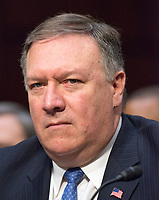 Central Intelligence Agency (CIA) Director Mike Pompeo testifies before the United States Senate Committee on Intelligence during a hearing to examine worldwide threats on Capitol Hill in Washington, DC on Tuesday, February 13, 2018<br /> Credit: Ron Sachs / CNP /MediaPunch