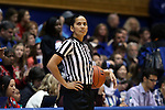 21 December 2014: Referee Pualani Spurlock. The Duke University Blue Devils hosted the University of Kentucky Wildcats at Cameron Indoor Stadium in Durham, North Carolina in a 2014-15 NCAA Division I Women's Basketball game. Duke won the game 89-68.