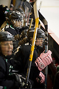 Cassidy Cobbs of the North Carolina Trailblazers women's hockey team during a game against a men's team at the Ice House in Garner.