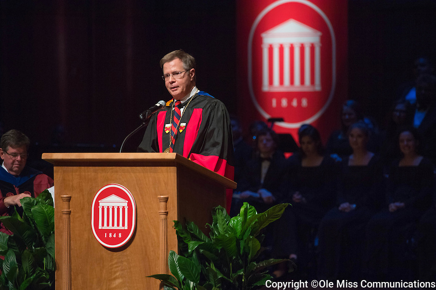 Investiture of Jeffrey Vitter as the 17th Chancellor of the University of Mississippi.  Photo by Kevin Bain/Ole Miss Communications