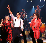 Alma Cuervo, Ektor Rivera , Ana Villafañe and cast of the Broadway production of 'On Your Feet!' celebrate their 500th performance at Marquis Hotel  on January 18, 2017 in New York City.