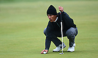 Thorbjorn Olesen of Denmark lines up during the Final Round of the 2015 Alfred Dunhill Links Championship at the Old Course, St Andrews, in Fife, Scotland on 4/10/15.<br /> Picture: Richard Martin-Roberts | Golffile
