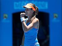 ANA IVANOVIC (SRB)<br /> Tennis - Australian Open - Grand Slam -  Melbourne Park -  2014 -  Melbourne - Australia  - 21st January 2014. <br /> <br /> &copy; AMN IMAGES, 1A.12B Victoria Road, Bellevue Hill, NSW 2023, Australia<br /> Tel - +61 433 754 488<br /> <br /> mike@tennisphotonet.com<br /> www.amnimages.com<br /> <br /> International Tennis Photo Agency - AMN Images