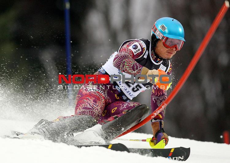 06.01.2011., Sljeme, Zagreb, Croatia - FIS Ski World Cup, Snow Queen Trophy, men slalom race, 1st run.<br /> Akira Sasaki<br />                                                                                                    Foto:   nph / PIXSELL