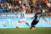 Hiroki Yamada (KSC) gegen Fanol Perdedaj (FSV) - FSV Frankfurt vs. Karlsruher SC, Frankfurter Volksbank Stadion