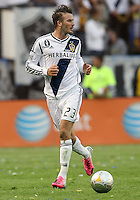 CARSON, CA - DECEMBER 01, 2012:   David Beckham (23) of the Los Angeles Galaxy against the Houston Dynamo during the 2012 MLS Cup at the Home Depot Center, in Carson, California on December 01, 2012. The Galaxy won 3-1.