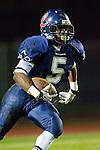Lawndale, CA 10/21/11 - Devin Christy (Leuzinger #5) in action during the Peninsula - Leuzinger varsity football game.