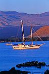 sail boats are the best way to explore the Galapagos archipelago<br /> La croisiere est le seul moyen de decouvrir l archipel des Galapagos. Le voilier est le bateau ideal pour approcher au plus pres les iles..
