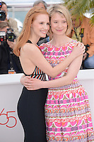 "Jessica Chastain and Mia Wasikowska  attending the ""Lawless"" Photocall during the 65th annual International Cannes Film Festival in Cannes, France, 19th May 2012...Credit: Timm/face to face /MediaPunch Inc. ***FOR USA ONLY***"