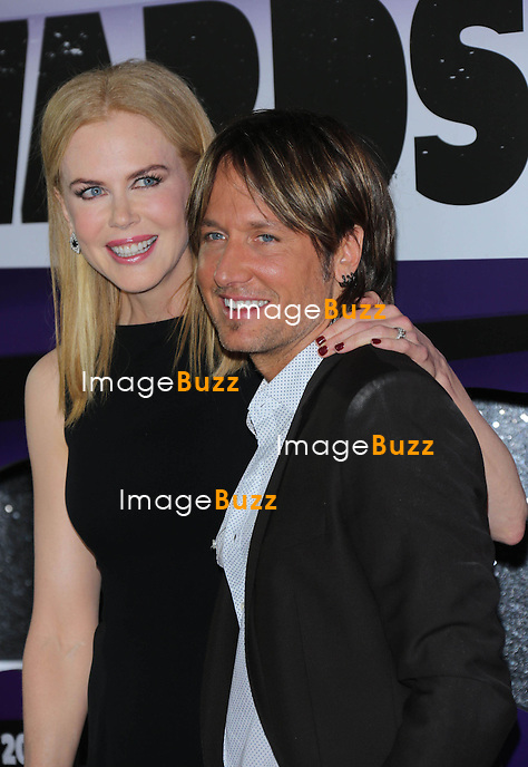 Nicole Kidman and Keith Urban at the 2013 Country Music Awards in Nashville, Tennessee. June 5, 2013.