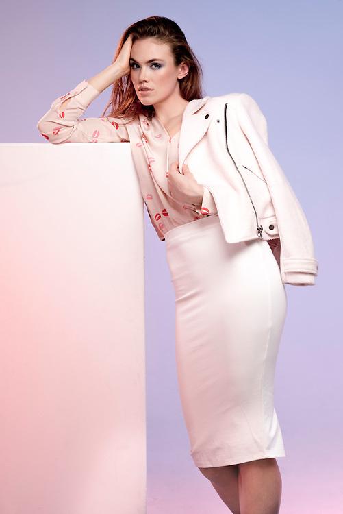 Fashion with Mirella, Pastels. Model Megan Ford. Pic:Nick Clayton