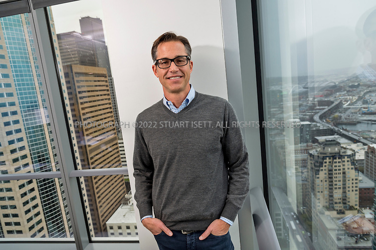 Description/Caption:<br /> 3/28/2014&mdash;Seattle, WA, USA<br /> <br /> Richard (Rich) Barton, 46, a Seattle investor and serial entrepreneur who cofounded Expedia (travel site), Zillow (real estate site) and Glassdoor (employment site). Here he poses in his downtown Seattle office.<br /> <br /> Photograph by Stuart Isett<br /> &copy;2014 Stuart Isett. All rights reserved.