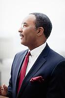 Philadelphia, PA, April 14, 2015 - A portrait of CBS news anchor Ukee Washington.
