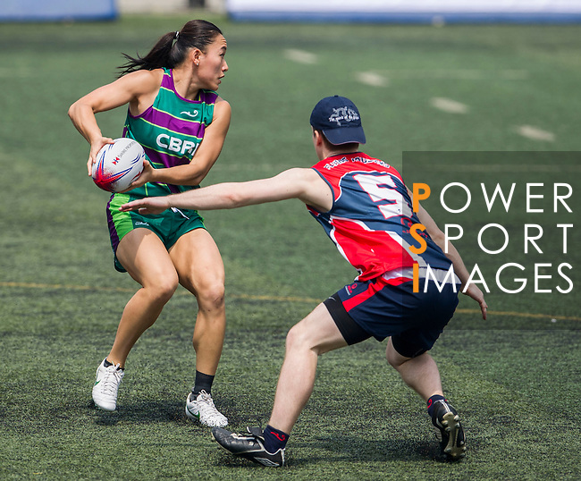 Veolia Environment vs CBRE during the Swire Properties Touch Tournament at Kowloon King's Park Sports Ground on 13 July 2013 in Hong Kong, China. Photo by Victor Fraile / The Power of Sport Images