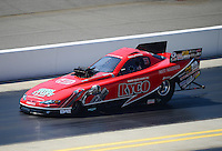 Apr. 14, 2012; Concord, NC, USA: NHRA top alcohol funny car driver Mickey Ferro during qualifying for the Four Wide Nationals at zMax Dragway. Mandatory Credit: Mark J. Rebilas-