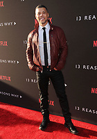 "30 March 2017 - Los Angeles, California - Wilson Cruz.  Premiere Of Netflix's ""13 Reasons Why"" held at Paramount Studios in Los Angeles. Photo Credit: Birdie Thompson/AdMedia"