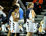 SIOUX FALLS, SD - MARCH 19: Briana Smith #2 from Carson Newman reacts after they fell 73-70 to Union in their quarterfinal game at the 2018 Elite Eight Women's NCAA DII Basketball Championship at the Sanford Pentagon in Sioux Falls, SD. (Photo by Dave Eggen/Inertia)(Photo by Dave Eggen/Inertia)