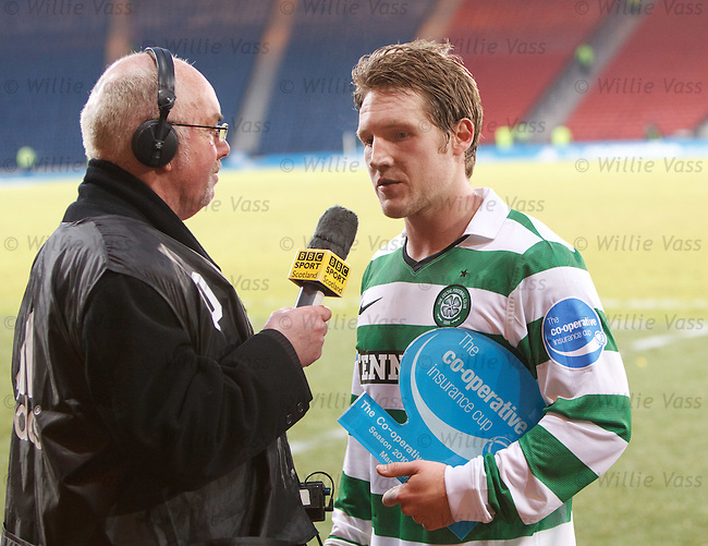Man of the match Kris Commons chatting to Chick Young