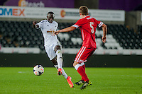 Monday 15 September 2014<br /> Pictured:<br /> Re: Swansea City Under 21s v Cardiff City Under 21s match at the Liberty Stadium, Swansea