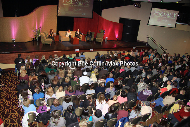 "fans - A Tribute to Pine Valley - All My Children's Alicia Minshew ""Kendall"", Vincent Irizarry ""David"", Darnell Williams ""Jesse"", Debbi Morgan ""Angie"", Walt Willey ""Jack"" and Jacob Young ""ex JR and ""Rick Forrester"" on The Bold and the Beautiful with fans for Q&A, autographs, photos on February 17, 2013 at Valley Forge Casino Resort in King of Prussia, PA. on February 16, 2013 with fans for Q&A, autographs, photos on February 17, 2013 at Valley Forge Casino Resort in King of Prussia, PA. (Photo by Sue Coflin/Max Photos)"