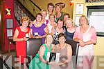 Pictured with Anne Looney, captain St Finians Ladies golf society were Christine Carroll, Mags Brosnan, Mary B O'Connor, Breda Neeson, Patricia Lynch, Mary Kelly, Mary Conway, Mary A O'Connor, Eileen O'Reilly, Kathleen Wrenn and Julie Leonard at her captains prize night in Lord Kenmares Restaurant, Killarney on Saturday night. ......................................Christy O'Mahony, captain Beaufort Golf club and Irene McCarthy, Lady Captain Beaufort Golf Club pictured with James Lucey and Sheila McCarthy, who were the winners in their Captain Prize Competition at the course on Sunday. Also pictured are Frank Coffey, President, Sean Coffey, vice captain, Teresa Clifford, Margaret Guerin, Josephine O'Shea, Gretta Hurley, Renee Clifford, Peggy O'Riordan, Maureen Rooney, Mary Barrett, Robin Suter, Gearoid Keating, Jim Hurley, Gabhan O'Loughlin, Rory Browne, Mike Quirke, Matt Templeman and Simon Rainsford...Picture: Ger Cronin LMPA (087) 0522010....PR SHOT..NO REPRODUCTION FEE.............................................................................................................................................................................................................................................